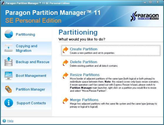Paragon partition manager 11 se personal build 9887